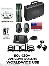 Andis Super AGR+ Cordless Clipper Kit&Blade 2 Batteries*WORLDWIDE USE 110v-240v