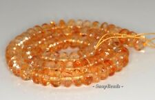 10X6MM  CITRINE QUARTZ GEMSTONE RONDELLE LOOSE BEADS 7.5'