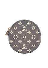 LOUIS VUITTON Navy Blue Mini Lin Noir Porte Monnaie Coin Purse Wallet BY4179 MHL