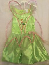 Tinkerbell Costume Girl Size Medium 7 8 Disney Fairies Detachable Wings