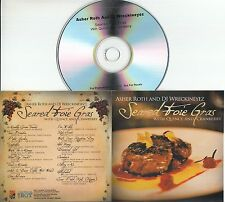 ASHER ROTH & DJ WRECKINEYES Seared Foie Gras 2010 US 18-track promo test CD
