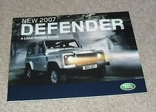 Land Rover Defender Brochure 2007 2.4d 90 110 Pick Up Station Wagon Hard Top