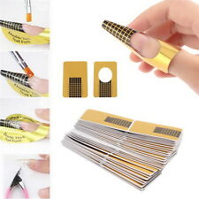 100Pcs Nail Art Tips Extension Forms Guide French DIY Tool Acrylic UV Gel OE E#