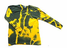 Vintage Tie Dyed / Bleached Long Sleeved T Shirt Retro Festival X Small 34 Chest