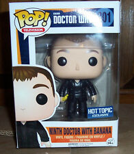 Funko Pop! TV Ninth Doctor with Banana #301 Doctor Who Hot Topic Exclusive