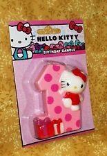Hello Kitty First Birthday Candle,3.5 high. Bakery Crafts,Pink,Cake Topper,One