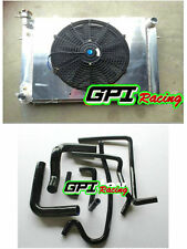 Aluminum Radiator +Shroud +fan +BLAC HOSE Holden V8 Commodore VG VL VN VP VR VS