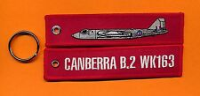 Canberra/WK163 embroidered key ring/ tag - New
