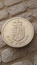 RARE  -  * 1988 * Crowned Shield of the Royal Arms - UK £1 / ONE POUND COIN VGC