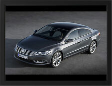 2012 VOLKSWAGEN PASSAT CC NEW A3 FRAMED PHOTOGRAPHIC PRINT POSTER