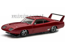 GREENLIGHT 86221 FAST AND FURIOUS 6 1969 DODGE CHARGER DAYTONA 1/43 DARK RED