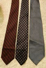 3-HIGH END NECK TIE LOT HUNT CLUB ITALY LANVIN PARIS ETIENNE CARON NEW YORK SILK