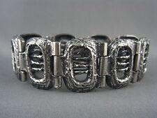 UNUSUAL! Vintage ROBERT LARIN Modernist Brutalist Pewter Bracelet
