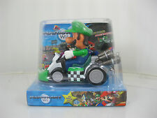 Brand newMario Pull Back Car Super Mario Brothers Cart Nintendo Wii Figures LUIG