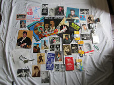 Rare Vintage Lot over 40 ELVIS PRESLEY items, Albums, Pin, Keychains, Puzzle