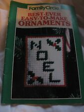 Family Circle Best Ever Easy To Make Ornaments Christmas Crochet Needlepoint Etc