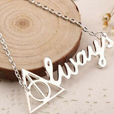 New Fashion Deathly Hallows Pendant Necklace Vintage Triangle Letter Necklace