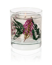 Stoneglow Winter Flowers Botanical Gel Tumbler with natural wax candle