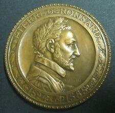 Médaille PIERRE DE RONSARD 1524-1585  Signée DAUTEL - 1924