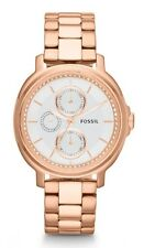 Fossil Watch * ES3353 Chelsey Blush Rose Gold Steel Women Ivanandsophia
