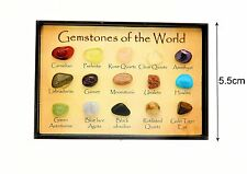 Gem stone & Rock Box fab educational geology nature gift for the collector