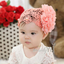 Newborn Baby Girl Kid Toddler Flower Headband Hair Bow Band Accessories Headwear