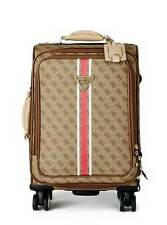 "NEW GUESS $170 LOGO SPORT 18"" 8-WHEEL SPINNER SUITCASE CARRY-ON LUGGAGE"