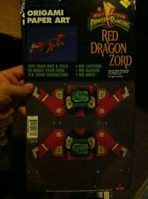 1994 Mighty Morphin Power Rangers - Red Dragon Zord (Origami Paper Art) New