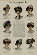 1911 WOMENS FASHION PAGE / THE MATURE WOMAN'S HAT....