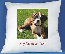 BOXER DOG PERSONALISED LUXURY SOFT SATIN POLYESTER CUSHION COVER FAST POSTAGE