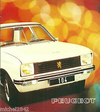 Catalogue Peugeot 104 1975 prospekt brochure
