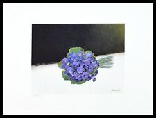 Heide Dahl Parma Veilchen handsigniert Poster Bild Kunstdruck und Rahmen 40x50cm