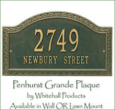 Whitehall Penhurst Address Marker Personalized Plaque 2 Mounts & 5 Colors
