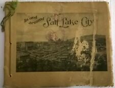 IN AND AROUND SALT LAKE CITY vintage 24-page book of photos (circa 1930s)Mormons