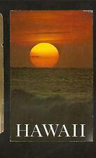 Vtg 1970's Postcard ALOHA FROM HAWAII - Sunset at Oahu's North Shore