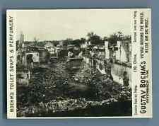 """China, Destroyed town near Peking  Vintage silver print. Photo from the Series """""""