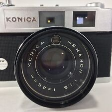 Konica Auto S2 Rangefinder 35 mm Film Camera 1965 Box Papers Leather Tested VTG