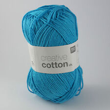 Rico Creative Cotton DK - 100% Cotton Knitting & Crochet Yarn - Sky Blue 014