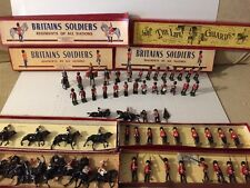 Huge Lot Of ALL ORIGINAL BRITAINS  ANTIQUE  Lead TOY SOLDIERS ,original Boxes !!