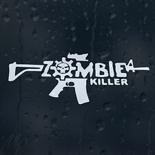 Zombie Killer Gun Machine Car Decal Vinyl Sticker For Bumper Window Panel