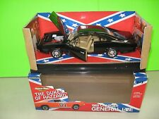 1969 BLACK OUT CHARGER GENERAL LEE DUKES OF HAZZARD AMERICAN MUSCLE 1:18   /252