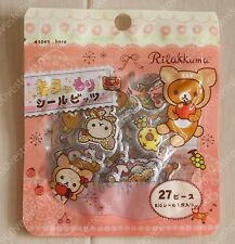 San X  JP Rilakkuma apple deer Glitter Plastic Flake Sticker 1pack (27stickers)