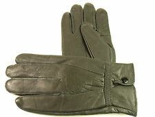 LADIES SUPER SOFT GENUINE LEATHER FULLY FLEECE LINED GLOVES WINTER DRIVING WARM