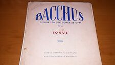 Bacchus-Disque Longue No 3 TONUS LP France Vinyl Record Classical