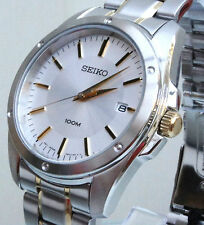 STYLISH GENUINE SEIKO MENS GENTS STAINLESS STEEL TWO TONE WATCH NEW RRP £250 NEW