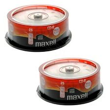 50 x MAXELL CD-R Audio Vuoti CDR XL - 80 Music SPINDLE II