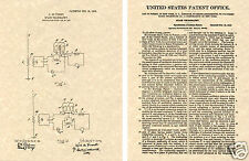 Lee DeForest AUDION TUBE Patent  Art Print vacuum READY TO FRAME!!! 1908 US