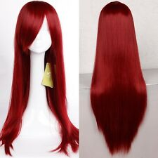 Cosplay Wigs Curly Straight Synthetic Full Head Wigs White Purple Orange Grey Re