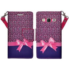 For Samsung Galaxy On5 Cell Phone Case Hybrid PU Leather Wallet Pouch Flip Cover