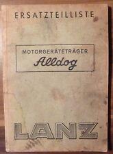 Lanz Motorgeräteträger Alldog Ersatzteilliste